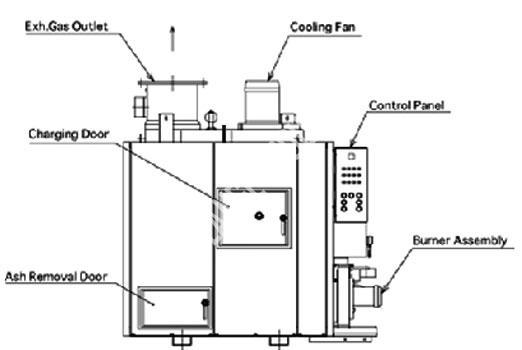 marine incinerator sludge oil and solid waste type dual